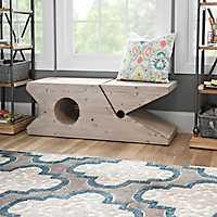 Graywash Clothespin Bench
