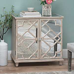 Kelsey White Wash Mirrored Cabinet