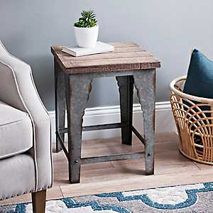 Scalloped Metal Side Table