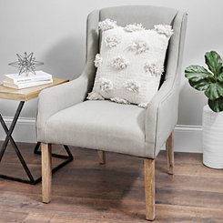 Paige Gray Linen Accent Chair