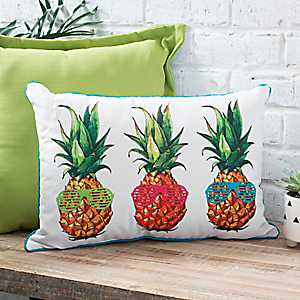Pineapple Sunglasses Accent Pillow