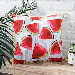 Watermelon Tassel Pillow