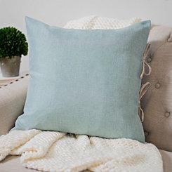Blue Cybil Tie Pillow
