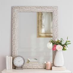 White Bark Framed Wall Mirror, 31.4x43.4 in.