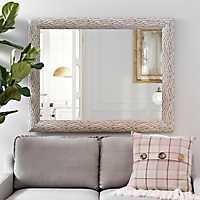 White Bark Framed Mirror, 37.4x47.4 in.