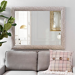 White Bark Framed Mirror, 37.4x47.4 in.