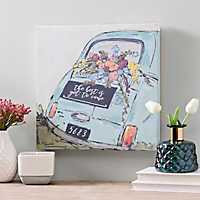 The Best is Yet to Come Love Bug Canvas Art Print