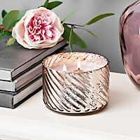Almond Amaretto Mercury Glass Jar Candle