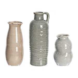Maria Crackle Glaze Vases, Set of 3