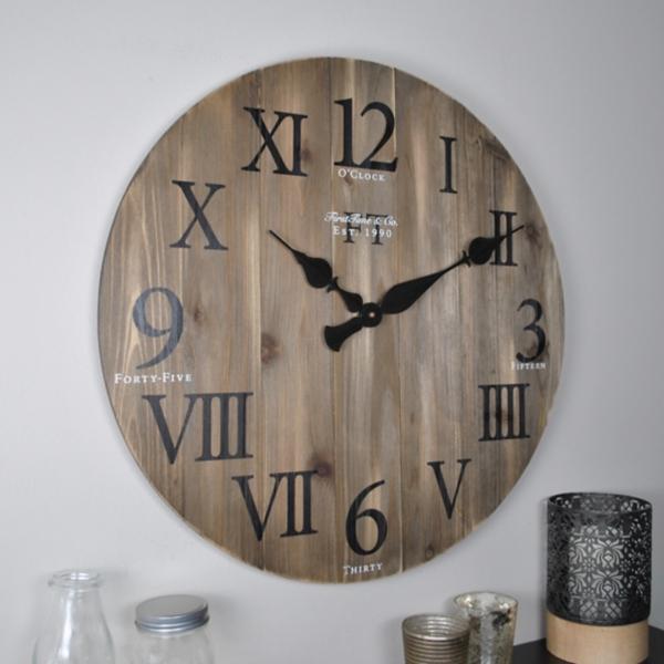 rustic barnwood wall clock