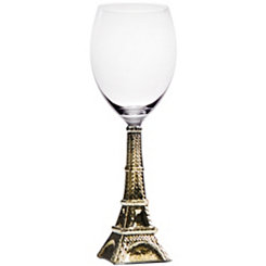 Gold Eiffel Tower Wine Glass