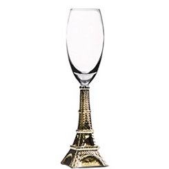 Gold Eiffel Tower Champagne Flute
