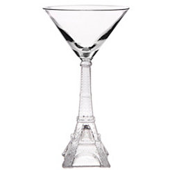 Vintage Eiffel Tower Martini Glass