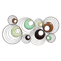 Multi Circle Metal Wall Plaque