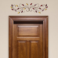 Over the Door Multi-Scroll Leaves Wall Plaque