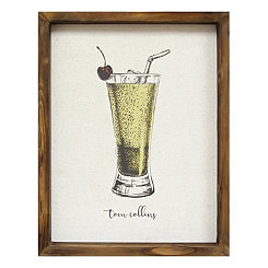 Tom Collins Linen Framed Art Print