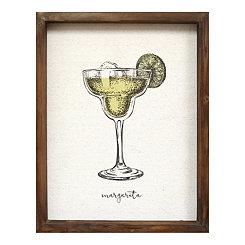 Margarita Linen Framed Art Print