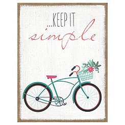 Keep it Simple Burlap Wall Plaque