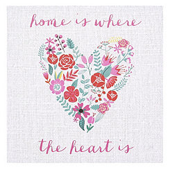 Home is Where the Heart is Canvas Art Print