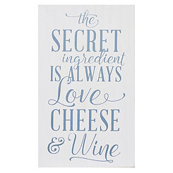 Love Cheese Wine Wood Wall Plaque