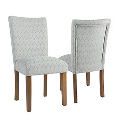 Textured Gray Parsons Chairs, Set of 2