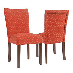 Textured Melon Parsons Chairs, Set of 2