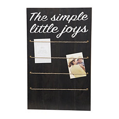 Simple Joys Wall Collage Frame with Rope and Clips