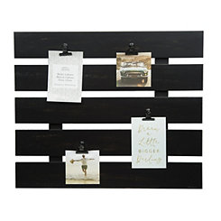 Black Wood Pallet Clip Collage Frame
