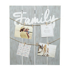 Graywashed Family Clip Collage Frame