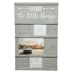 Graywashed Little Things Sliding Collage Frame