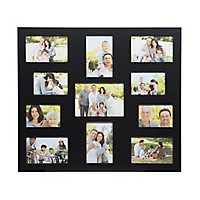 Sleek Black 11-Opening Collage Frame