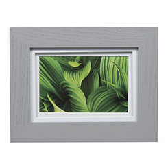 Gray Double Matted Picture Frame, 4x6