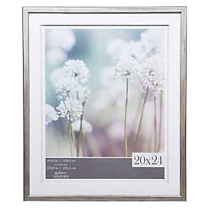 Gray Picture Frame with Double Mat, 20x24