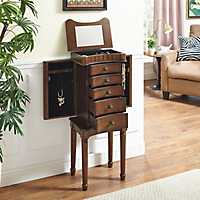 Walnut Gianna Jewelry Armoire