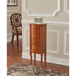 Oak Riley Jewelry Armoire