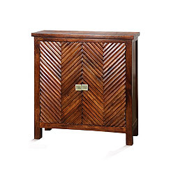Herringbone 2-Door Wooden Cabinet