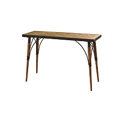 Natural Rustic Wood Console Table