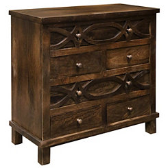 Espresso Mango Wood 6-Drawer Chest