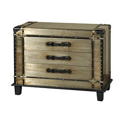 Steamer Trunk 3-Drawer Chest