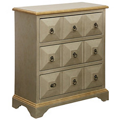 Antiqued Silver Ayden 3-Drawer Chest