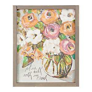 Flowers in Vase Framed Art Print