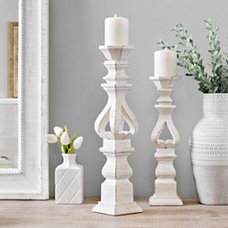 4d2e00ddc7b1f Brushed White Candle Holder
