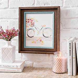Bicycle Hymn Framed Art Print