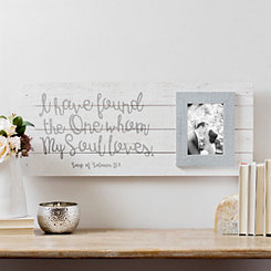 My Soul Loves Plank Wedding Picture Frame, 5x7