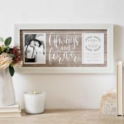 Always Forever Wedding Invitation Collage Frame