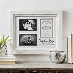 Our Love Story Wedding Invitation Collage Frame