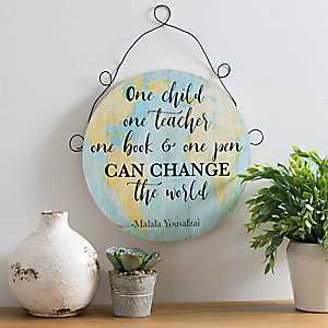 Change the World Globe Wall Plaque
