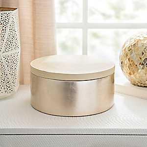 Round Gold Bamboo Box