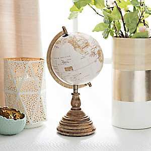 Vintage Golden Desk Globe