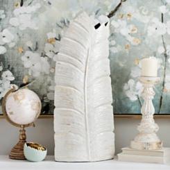 Mother of Pearl Leaf Vase